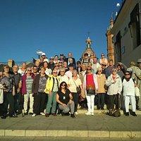 Visita con un grupo francés en Triana.