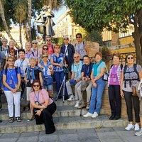 Visita con grupo de Arts et Vie en Triana.