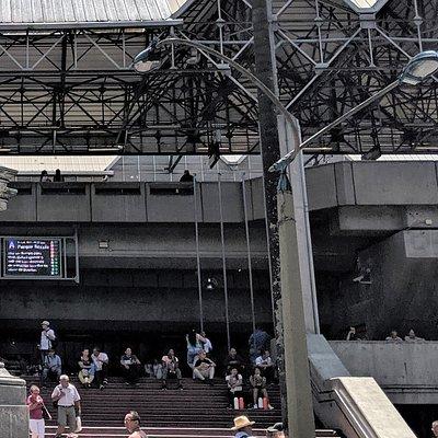 Entrance to Metro Station in Parque Berrio.