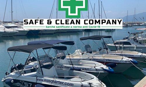 barche a noleggio senza patente - marchio sicurezza ANTI COVID-19