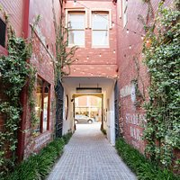 Our cobble stone entrance off Hay Street, Perth!