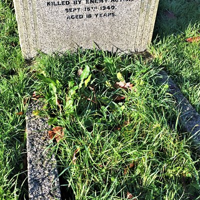 5.  Commonwealth War Grave, the Parish Church of St Nicholas, Pluckley, Kent;  the grave of Charles Alfred Ashdown