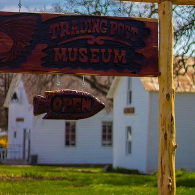 The beautiful Trading Post Museum.