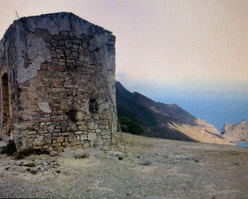 La vista verso Punta Troja .....