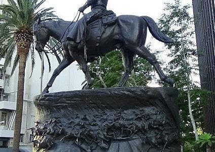 John Wayne statue - by, George Vreeland Hill