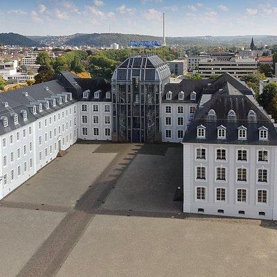Das Historische Museum Saar am Schlossplatz, rechts neben dem Saarbrücker Schloss  © HistorischesMuseumSaar, Markus Kecker