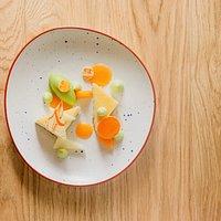 Dessert Menu Imagine  Cheesecake melon basilic  crédit photo Rémi Lidereau pour Etonnantes