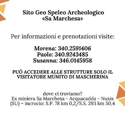 Il Sito Geo - Speleo Archeologico di Sa Marchesa Nuxis riprende l'attività di promozione e divulgazione scientifica, in ottemperanza alle re