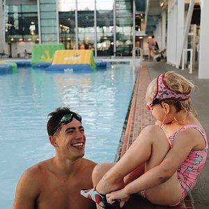 World class swim lessons with world class swim instructors.