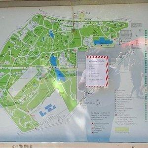 Mapa do Grugapark. O Krauter é o número 18