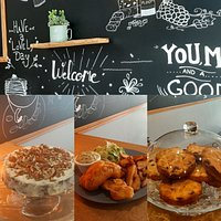 Carrot cake, fish and chips, cookies, le tout fait maison