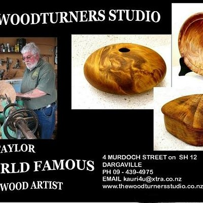 Gallery featuring works turned  by Rick Taylor - featuring the wonderful New Zealand Ancient Kauri wood