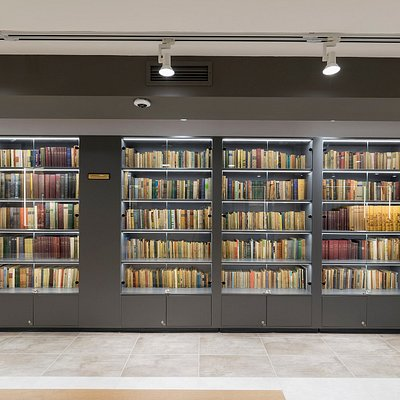 """This is the library of the late poet """"Veselin Hanchev"""" donated to the museum by his relatives."""