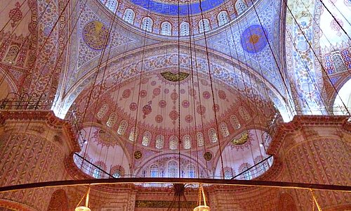 Blue Mosque, Istanbul. We stayed inside for about 2 hours to feel the atmosphere