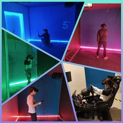 Espace de jeux VR et simulateurs