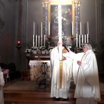 Pasqua 2020 con i parroci don Michele e Don Giuseppe