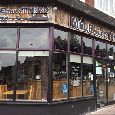 Mile and Third, Westcliff near Southend serving craft beer, real ale and ciders, premium spirits and wine. CAMRA pub of the year 2020.