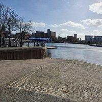 Looking over to Queens Dock.