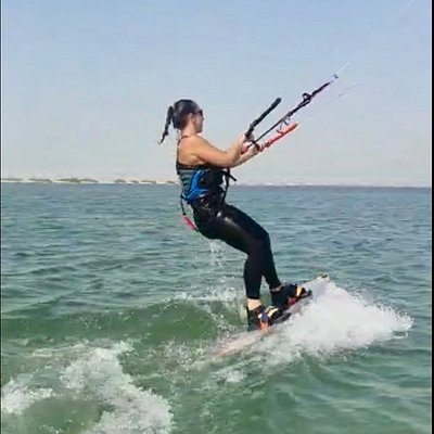 This feeling of standing on the board and surf with the Kite is just simply awesome. And that happens only after 10Hrs of being supported and motivated by the Best Instructor of Kite Surf in Dubai and all over UAE @Hicham. He creates Beautiful days of Joy & Fun.