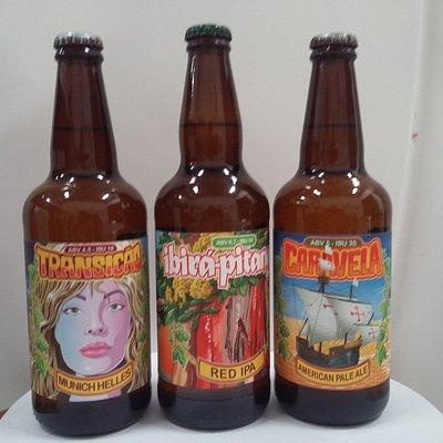 Cervejas: Munich helles, APA, IPA