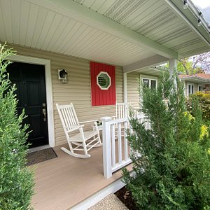 Enjoy a quiet breakfast or glass of wine on your private porch.