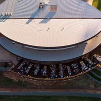 A drone shot of one of our prostate cancer rally events.