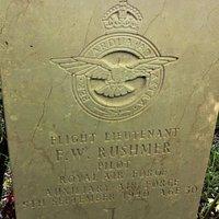 12.  Commonwealth War Graves, All Saints Church, Staplehurst, Kent;  the Commonwealth War Grave of Flight Lieutenant Frederick William Rushmer