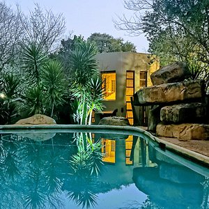 Rock pool and our executive cottage