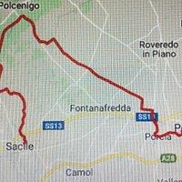 Il tracciato del percorso che si potrebbe fare : ci si allunga sino a Polcenigo ....