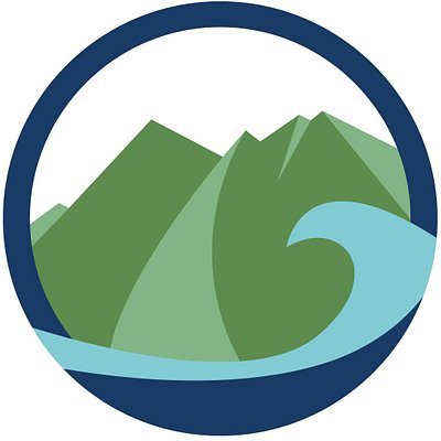 Our Logo. It depicts the peaks of our home mountain Taygetos and the sea right next to it.