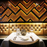 Opulent setting in our fine dining room.
