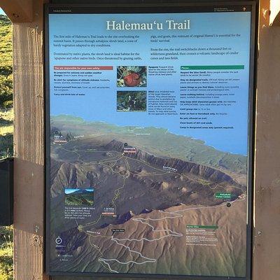 Trail info at the Trailhead