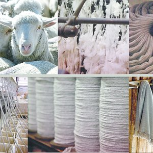 From raw wool to finished products.  See it all right here!