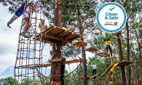 Parque Aventura São Jorge com logo CLEAN&SAFE