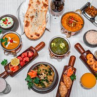 Assortment of Menu - Restaurant Indien Village