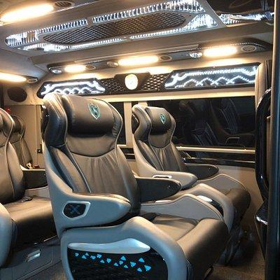 Comfortable seats limousine