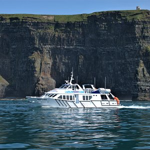 Experience the magnificent Cliffs of Moher from another angle on board the Doolin Express Ferry.  Doolin's finest!