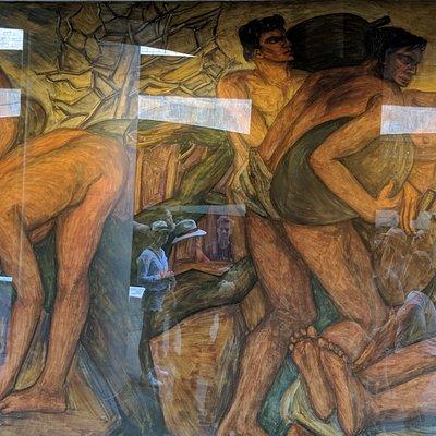 Mural by Pedro Nel Gomez near Plaza Berrio Metro.