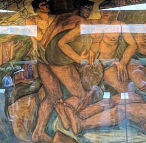 Men at work mural by Pedro Nel Gomez.