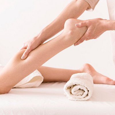 Soothe aching legs and feet with a relaxing massage.