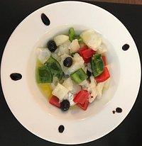 Esqueixada de bacallà. Excellent dish if you like cod fish as a starter. Delicious