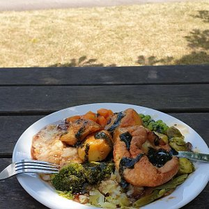 Thank you for the gorgeous take away plated Sunday lunch which enabled us to enjoy it sat by Tiverton canal. Keep up the good work !