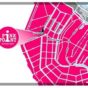 Westermarkt Amsterdam next to the HomoMonument