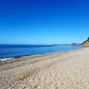 Where the footpath meets Weston Mouth beach
