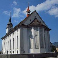 Pfarrkirche St.Georg und Zeno à Arth (canton de Schwyz) - vue extérieure
