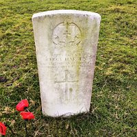 4.  Commonwealth War Graves, St Matthew's Church, Warehorne, Kent;  the grave of Private Percy Harden