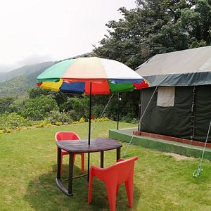 Tent with valley view in Coorg Camping Jollyboys