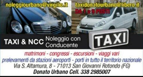 Unica flotta taxi e Ncc a San Giovanni rotondo