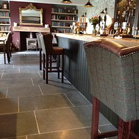 New stone floor, bar and Leather/Harris tweed seating