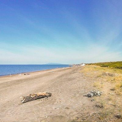 Spiaggia libera delle Murelle, mese di giugno 2020